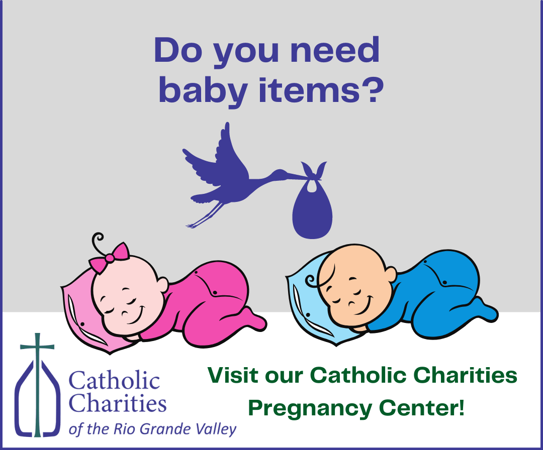 Are you in need of baby items?<br /> <br /> Consider visiting our Catholic Charities Pregnancy Center.<br /> <br /> If you would like to donate baby items, please contact us for more information.