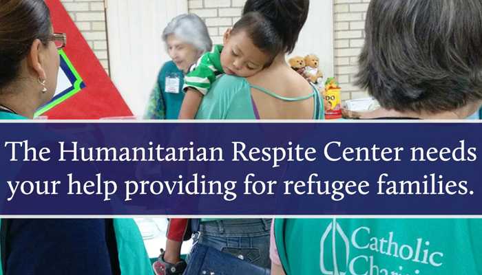 """Provide Humanitarian Relief to Immigrant Children and Families<br /> <br /> <a href=""""volunteer.aspx"""">Volunteer Today</a><br /> <br /> <a href=""""htps://www.catholiccharitiesrgv.org/Donations.aspx"""">Donate Today</a><br /> <br /> <a href=""""http://catholiccharitiesrgv.org/HumanitarianRespiteCenter.shtml"""" target=""""_self"""">Humanitarian Respite Center</a>"""